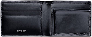 Davidoff Credit Card Holder with Coin Pocket.