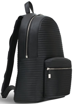 Dior Men's Black Leather Backpack.