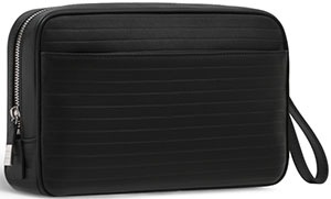 Dior Men's Black Leather Pouch.