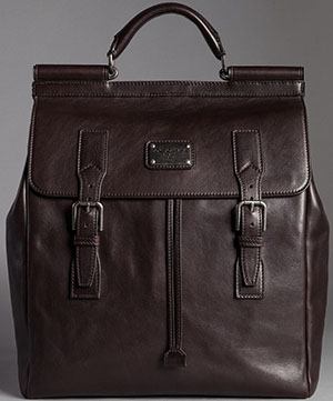 Dolce&Gabbana Men's Logoed Vacchetta Leather Sicily Backpack: US$3,145.