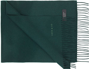 Lock & Co. Men's Plain cashmere scarf: £150.