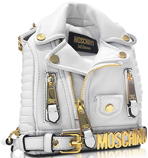 Moschino Nappa Leather Biker Jacket Backpack: US$1,750.