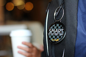 Dynotag Web/GPS Enabled QR Smart Deluxe Steel Luggage Tag: US$17.95.