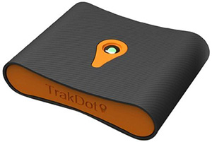 Trakdot Luggage Tracker.