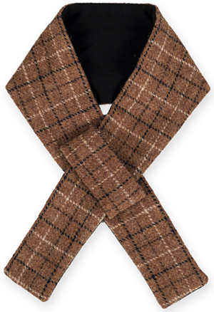 Dunmore men's short brown Harris Tweed scarf: £35.