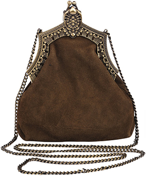 House of Harlow Rey olive women's suede shoulder bag.