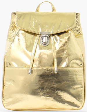 Illesteva women's Mini Charlie Metallic Gold Backpack: US$490.