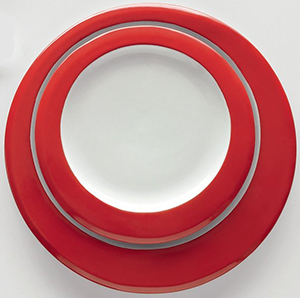 Casa Bugatti Red Dinner Plate Glamour by Andreas Seegatz.