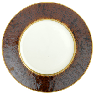 Tortoise Gold Band Dinner Plate by Jaune de Chrome: US$185.