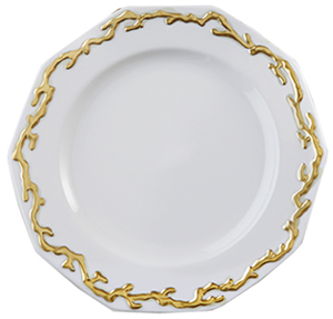 Mottahedeh Barriera Corallina Gold Dinner Plate: US$410.