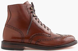 J.Crew Ludlow men's Wing Tip Boot: US$368.