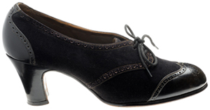John Lobb women's Brogue 2 hole lace shoe.