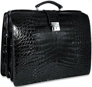 Jack Georges American Alligator Collection Classic Briefbag: US$7,500.