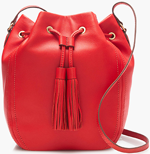 J.Crew Tassel-Tie women's Bucket Bag in Smooth Leather: US$168.