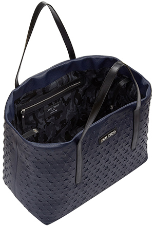 Jimmy Choo Men's Pimlico Ink Star Embossed Grainy Leather Tote Bag: €1,350.