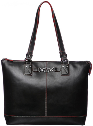 Johnston & Murphy Women's Leather Zip Tote Handbag: US$159.99.