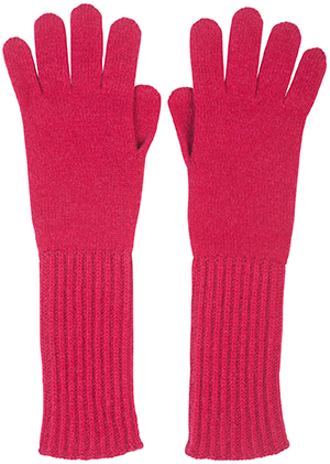 Johnstons of Elgin Cashmere Rib Cuff Gloves: US$95.