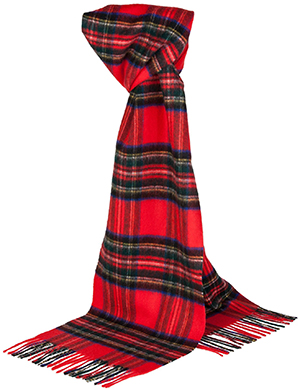 Johnstons of Elgin Cashmere Unisex Tartan Scarf: US$179.
