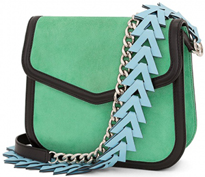 Loewe V Shoulder Bag Green/black: US$2,450.