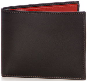 Mark Cross Bi-Fold Wallet Bi-Color Calfskin Black/Red: US$395.