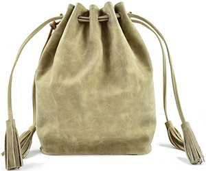 Monserat De Lucca Women's Sancha Drawstring Shoulder Beige Bag: US$320.