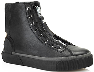 Lanvin Zipped high top derby sneaker in nappa caflskin: €695.
