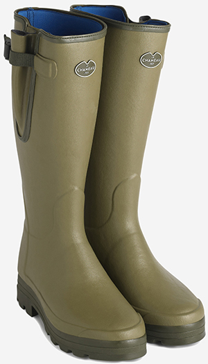 Le Chameau Vierzonord Adjustable cold-weather boot with waterproof gusset and tightening strap men's boots.