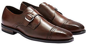 Joseph Abboud men's brown monk strap dress shoes.