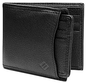 Joseph Abboud Black Leather Multipocket men's wallet: US$75.