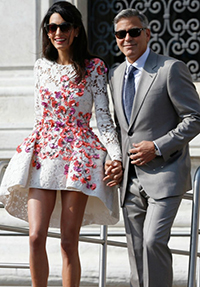 Amal Alamuddin's first outfit as Mrs Clooney is perfection.