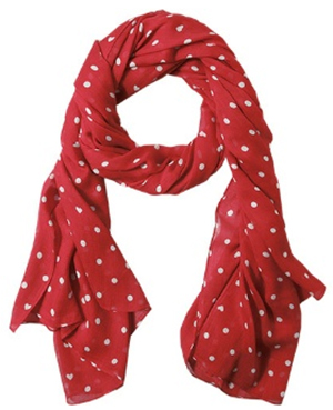 Lloyd women's Sweat Heart Cherry Red scarf.
