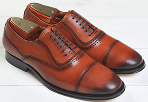 Martin Dingham Charles Captoe Balmoral Brogue men's shoes: US$350.