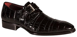 Mezlan Berlin Genuine Alligator Classic & Powerful Exotic Monkstrap w/ Icon shoe: US$1,295.