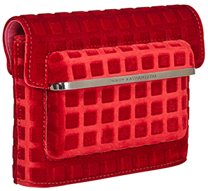 Mary Katrantzou MVK Mini Red clutch: €825.