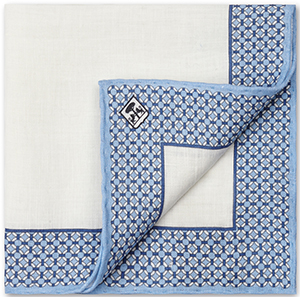 Corneliani Linen Pocket Square.