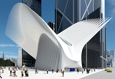 World Trade Center (PATH station): Oculus, New York City, NY, USA.