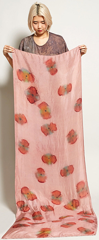 No.6 Katrien Van Hecke Kari Scarf in Redwood Poppy: US$275.
