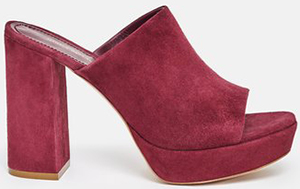 Opening Ceremony women's Suede PLatform Mules: US$625.