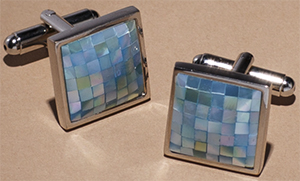 Gather & Hunt Blue Mosaic Cufflinks: US$39.
