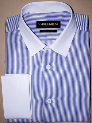 Gather & Hunt The Blue Thin Stripes Shirt: US$99.