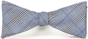 Lanieri Light Blue Check Wool Bowtie: €35.