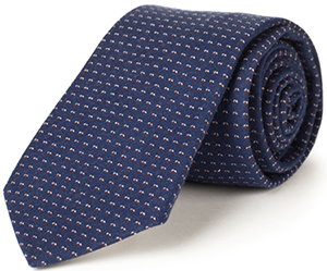 Lanieri Blue Fancy Jacquard Necktie: €55.