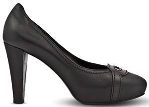 Pineider Pineider Women's Shoes - 4 inch Heel Black Classical Decollete: US$400.