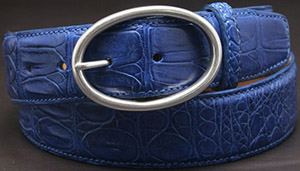 Jan Kielman Sapphire alligator women's belt, 40 mm in width.