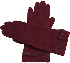 Agnès B. women's blend wool gloves: US$125.