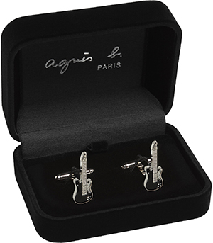 Agnès B. black cufflinks guitar: US$65.