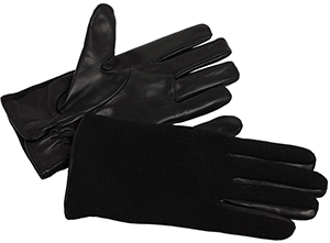 Agnès B. men's gloves Marvin leather and wool: US$225.