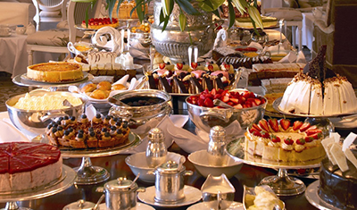 Afternoon tea at Belmond Mount Nelson Hotel, 76 Orange St, Gardens, Cape Town, 8001, South Africa.