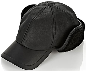 Alexander Wang shearling baseball hat with ear guard: US$395.