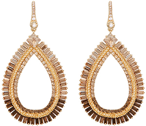 Henri Bendel Vanderbilt Teardrop Chandelier Earrings: US$168.